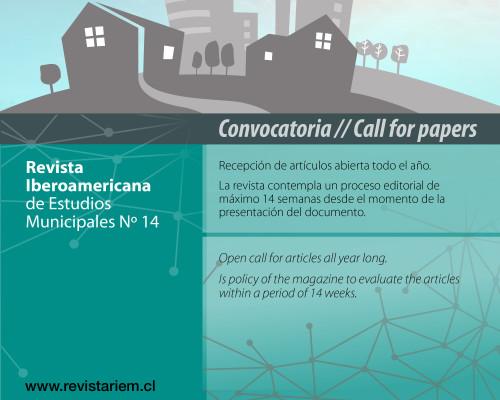 Se encuentra abierta la recepción de artículos para la Revista Iberoamericana de Estudios Municipales
