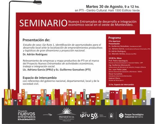 Seminario Nuevos Entramados de desarrollo e integración económico social en el oeste de Montevideo