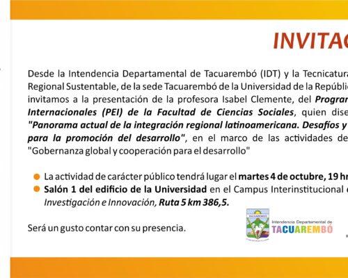 """""""Panorama actual de la integración regional latinoamericana. Desafío y oportunidades para la promoción del desarrollo"""""""