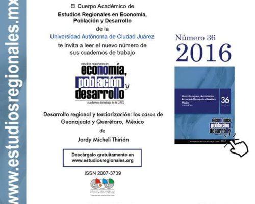 Cuaderno de Trabajo 36, Economia Poblacion y Desarrollo UACJ