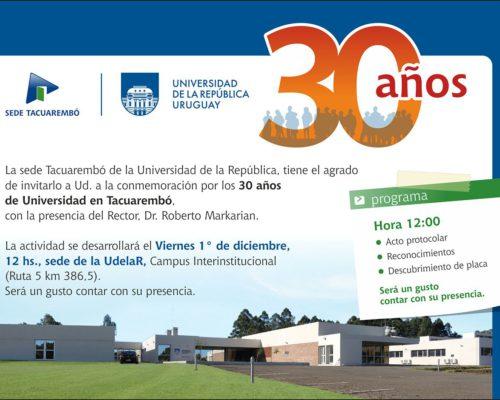 Treinta años de la UdelaR en Tacuarembó