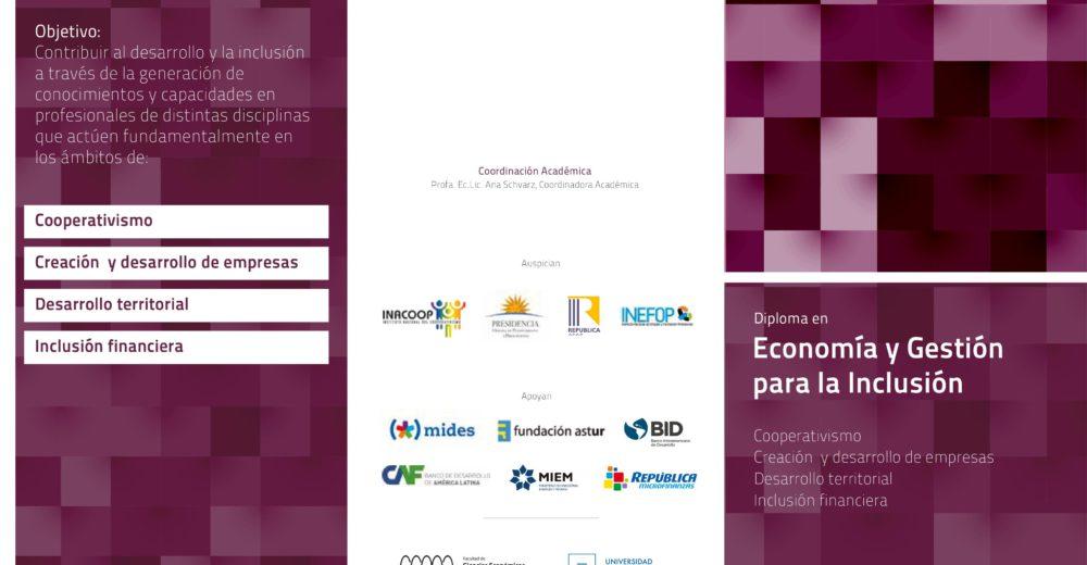Tercera edición: Diploma de Posgrado en Economía y Gestión para la Inclusión – FCEA-UDELAR