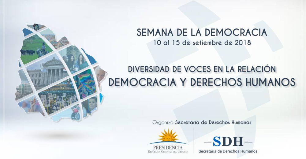 """SEMANA DE LA DEMOCRACIA:  """"DIVERSIDAD DE VOCES EN LA RELACIÓN DEMOCRACIA Y DERECHOS HUMANOS"""""""
