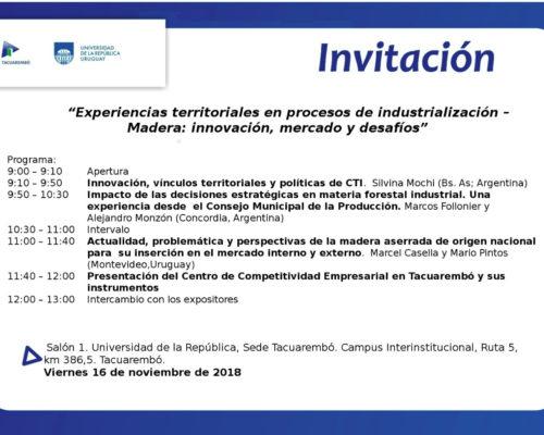 Invitación general y programa del seminario del 16/11
