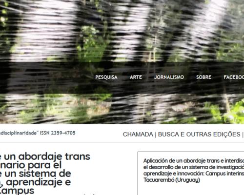 Artículo sobre el campus interinstitucional de Tacuarembó en revista académica