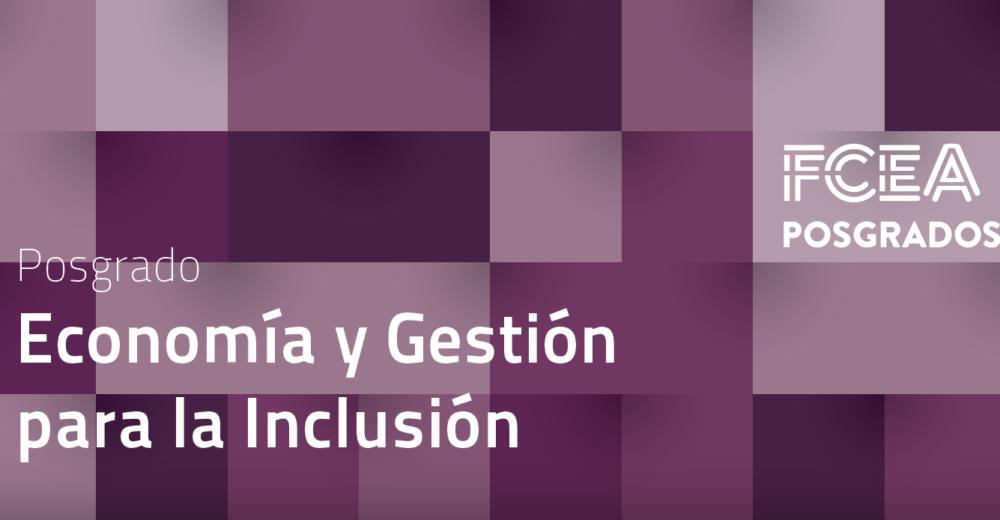 Diploma de posgrado en Economía y Gestión para la Inclusión