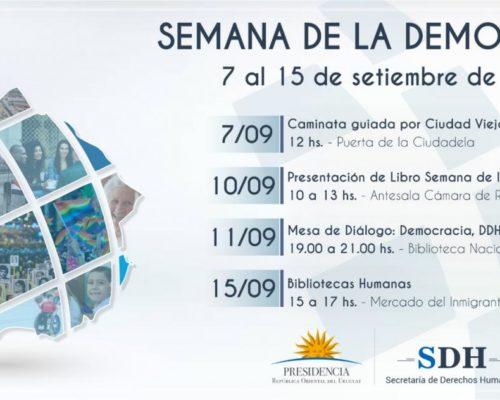 Entre el 7 y el 15 de setiembre se celebra la Semana de la Democracia