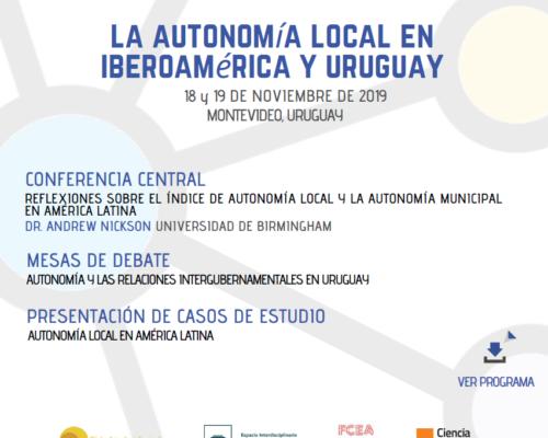 """Seminario internacional """"La autonomía local en Iberoamérica y Uruguay"""""""
