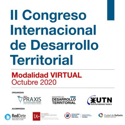 El II Congreso Internacional de Desarrollo Territorial se realizará en modalidad virtual