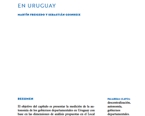 Análisis del nivel de autonomía de los gobiernos departamentales en Uruguay